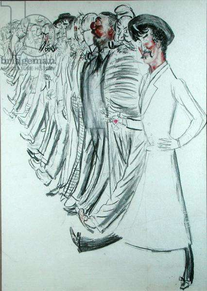 Cover of the Annual Dinner Menu of 1962, 1962 (charcoal on paper)