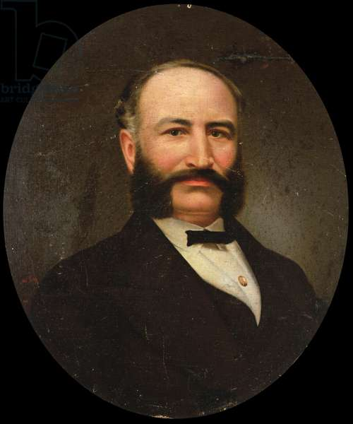 Portrait of Adolph Sutro, 1870 (oil on canvas on wood)