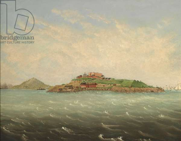 View at Alcatraz, early 1870s (oil on canvas)