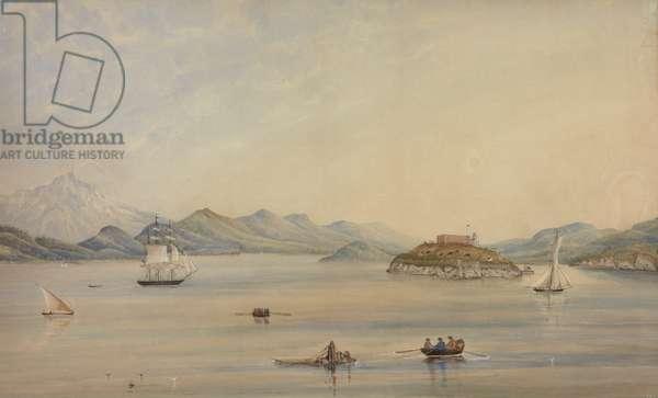 Alcatraz, 1872 (w/c on paper)