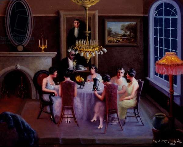 Reception (Afternoon Tea), 1926 (oil on canvas)