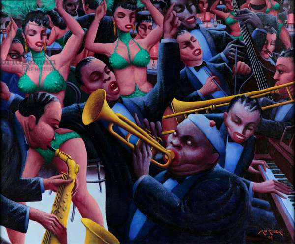 Hot Rhythm, 1961 (oil on canvas)