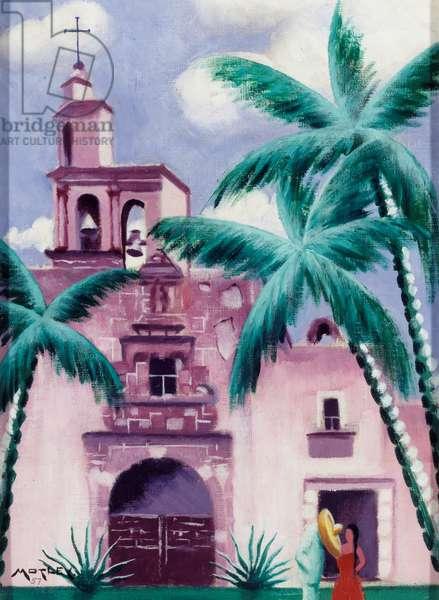 San Miguel de Allende, 1957 (oil on canvas)