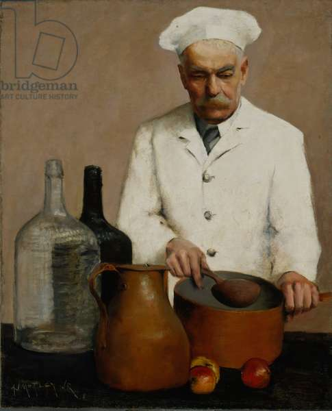 The Chef, 1917 (oil on canvas)