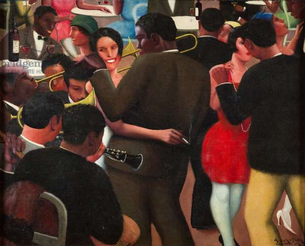 Blues, 1929 (oil on canvas)
