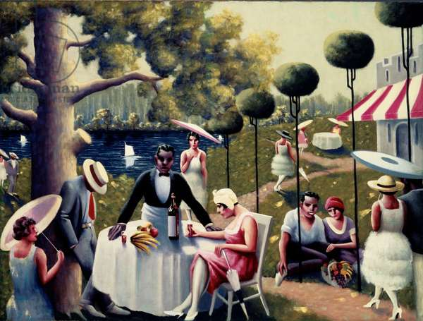 Lawn Party, 1937 (oil on canvas)