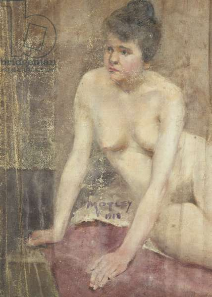 Nude Study 1918 (oil on canvas)