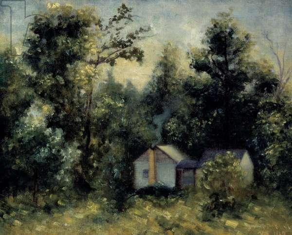Landscape, Arkansas, 1928 (oil on canvas)