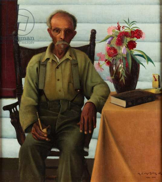 Uncle Bob, 1928 (oil on canvas)