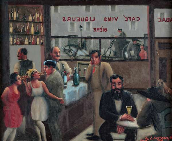 Cafe, Paris, 1929 (oil on canvas)