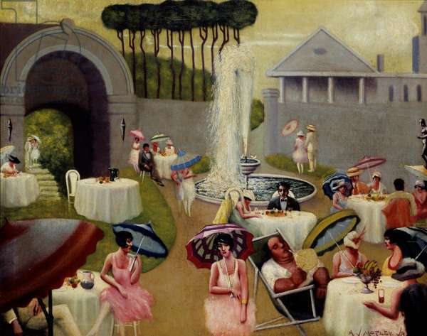 Lawn Party, circa 1937 (oil on canvas)