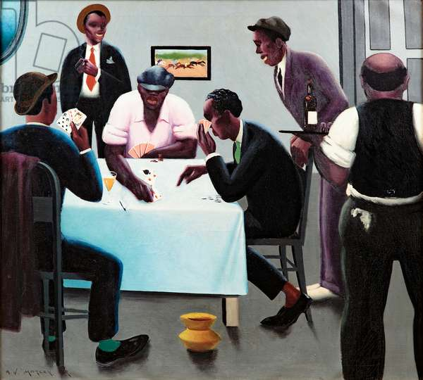 The Boys in the Back Room (Card Players), 1934 (oil on canvas)