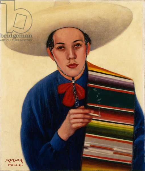 José with a Serape, 1953 (oil on canvas)