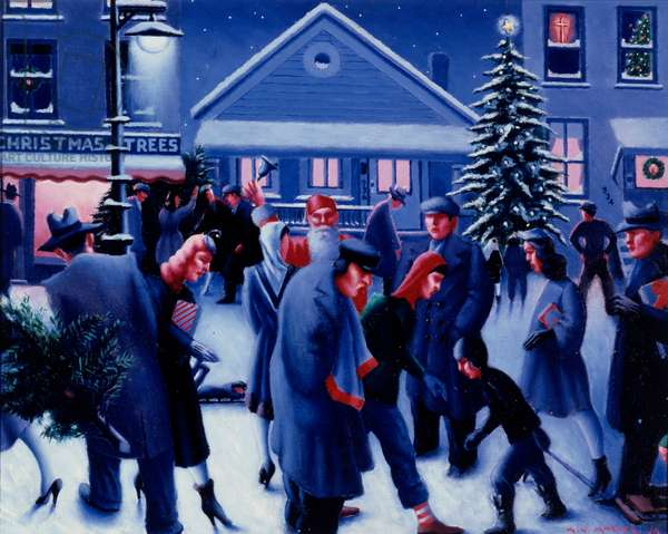 Christmas Eve, circa 1945 (oil on canvas)