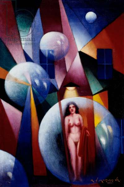 Nude (Abstract), 1952 (oil on canvas)