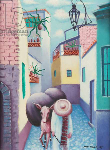 Callejón del Beso, 1957 (oil on canvas)