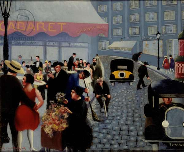 Dans la rue, Paris, 1929 (oil on canvas)