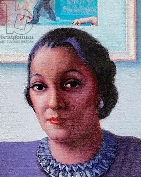 Portrait of a Cultured Lady, 1948 (oil on canvas) (detail of 2642280)