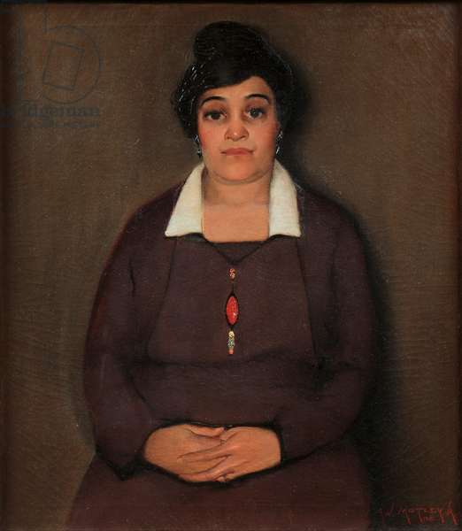 Portrait of My Mother, 1919 (oil on canvas)