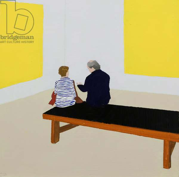 Conversation in Yellow, 2019 (oil on panel)