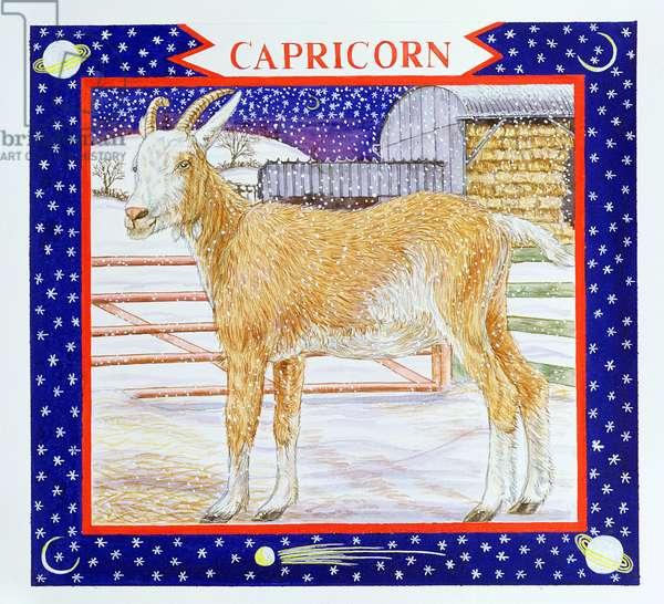 Capricorn (w/c on paper)