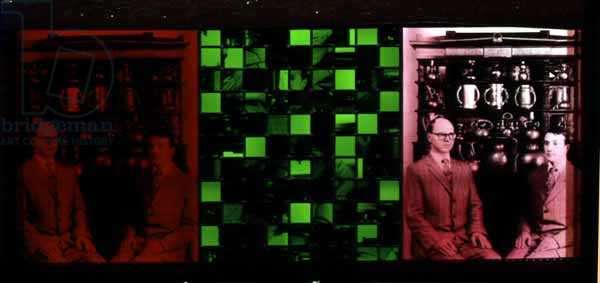 Gilbert and George, 1997 (stained glass, screen print and photography)