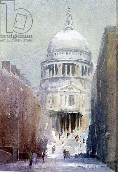 The South Porch, St. Pauls Cathedral, 1990 (w/c on paper)