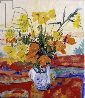 Welsh Poppies, 1992 (oil on linen)