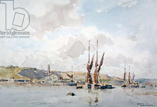 On the Medway, Rochester (w/c on paper)