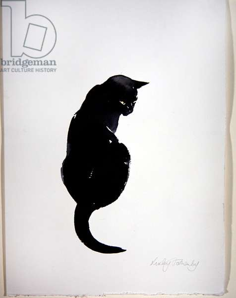 Hodge - Back View (w/c on paper)