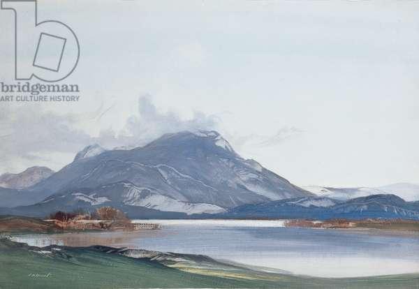 Loch Lomond from Luss (w/c, gouache on paper)