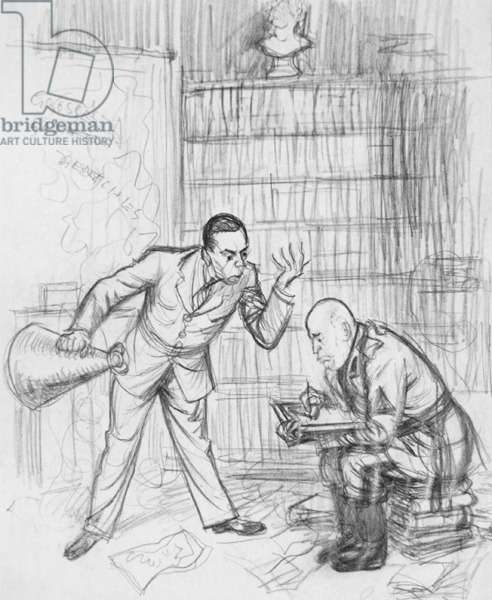 The Crammer, 1920 (pencil on paper)