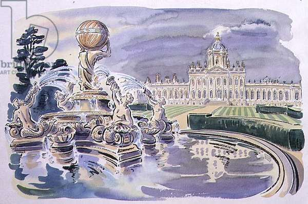 Castle Howard, 1993 (pen & ink, w/c on paper)