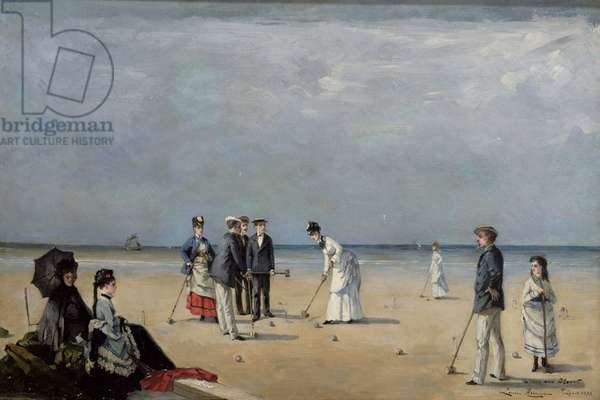 A Game of Croquet, 1872