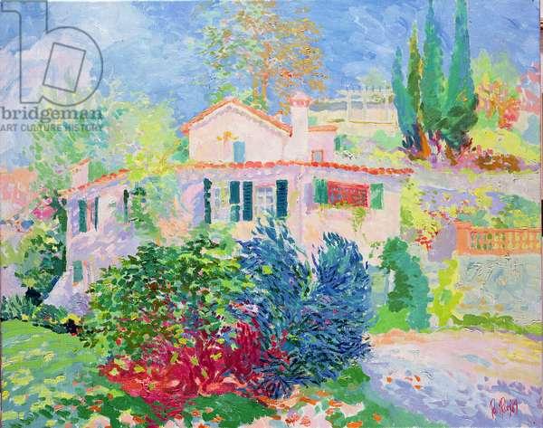 Studio Villa, Cannes, 1989 (oil on canvas)