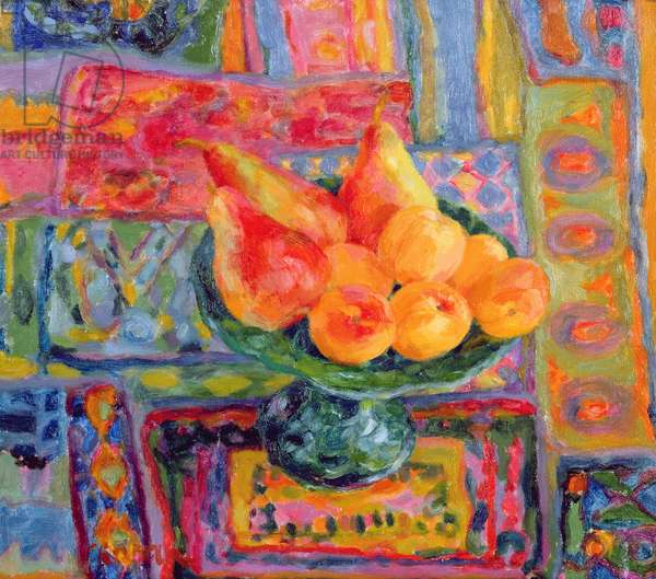 Pears and Apricots, 1994 (oil on linen)