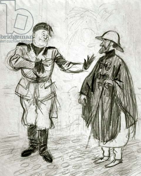 Imaginary Conversations, 1938 (pencil on paper)