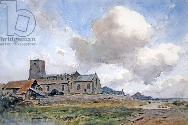 Morston Church, near Blakeney, Norfolk (w/c on paper)