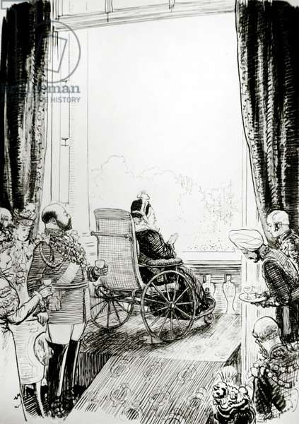 The Diamond Jubilee, 20th June 1897 (pen and ink on paper)