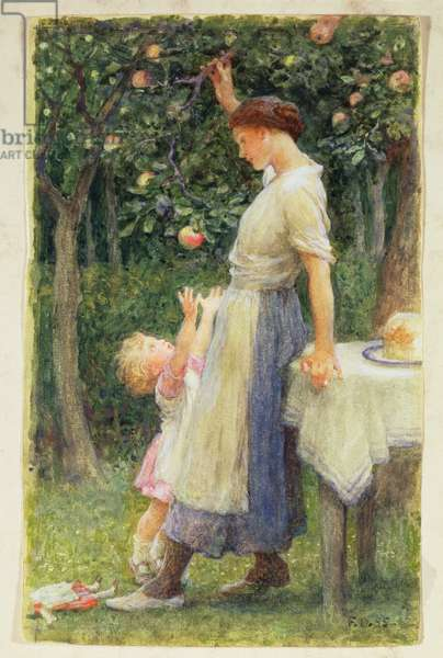 Out of reach, daughters of Eve, 1895 (watercolour)