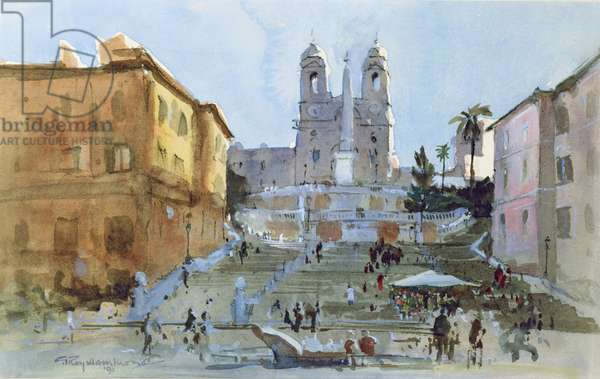 The Spanish Steps, 1991 (w/c , gouache on paper)