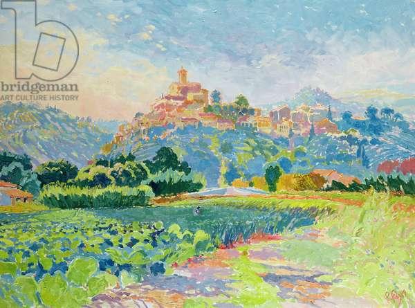 Fields, Auribeau Sur Siagne, 1989 (oil on canvas)