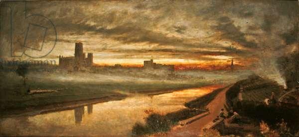 Durham, 1890 (oil on board)