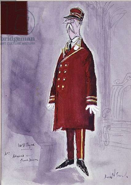 Wild Thyme - Costume design for, French Doorman