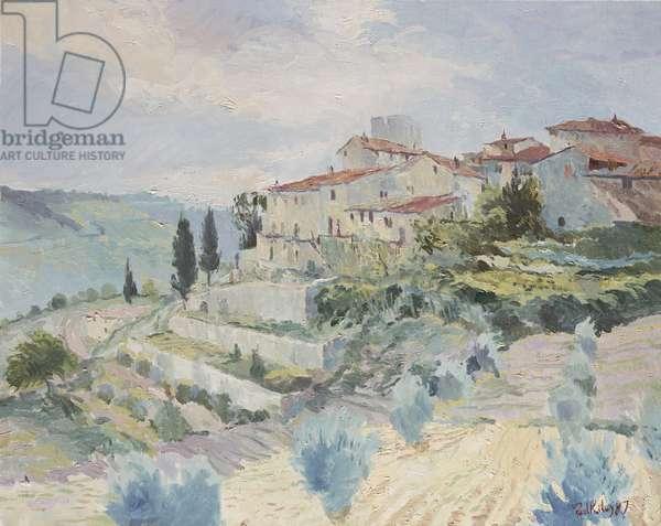 Vertine in Chianti, 1987 (oil on canvas)