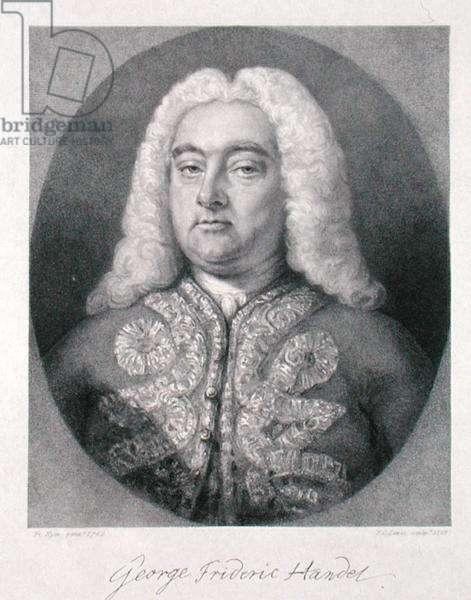 George Frederick Handel (1685-1759) engraved by Frederick Christian Lewis I (1779-1856) 1828 (engraving)
