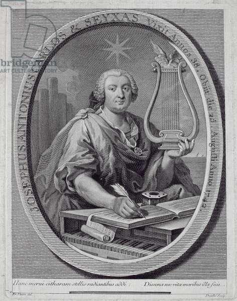 Portrait of Jose Carlos Seixas (1704-42) engraved by John Daulle (1703-63) (engraving)