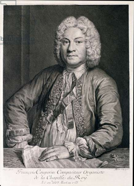 Francois Couperin (1668-1733) engraved by Flipart (engraving)