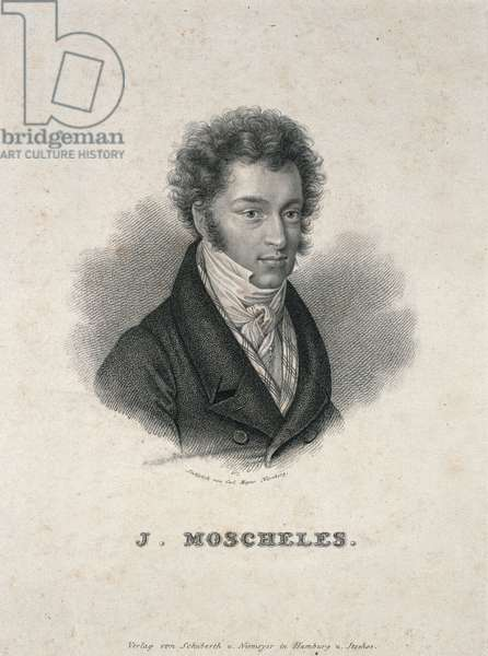 Portrait of Ignaz Moscheles (1794-1870) (engraving)