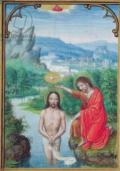 W.99 fol.24v Baptism of Christ (vellum)